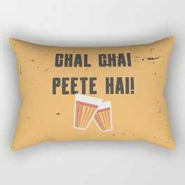 Funny Chal Hindi Quote Rectangular Pillow