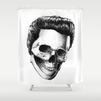 elvis presley Shower Curtains featuring Elvis Presley by Motohiro NEZU