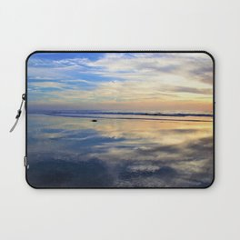 Blues and Oranges at Sunset with Reflections on the Shore by Reay of Light Laptop Sleeve