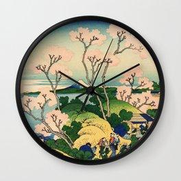 Fuji from Goten-Yama (High Resolution) Wall Clock