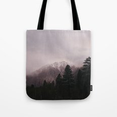 Misty Sunset on Convict Mountain Tote Bag