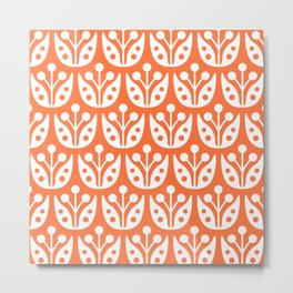 Mid Century Flower Pattern 4 Metal Print
