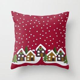 Winter idyll Throw Pillow