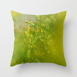 Green Splash #2 Throw Pillow