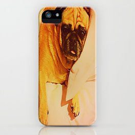 PUG LOVE: Will you bring me breakfast in bed? iPhone Case
