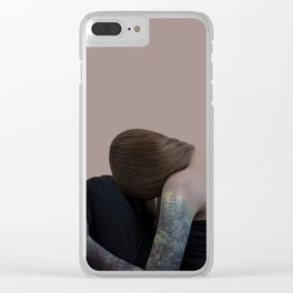 Tattoo girl forest Clear iPhone Case