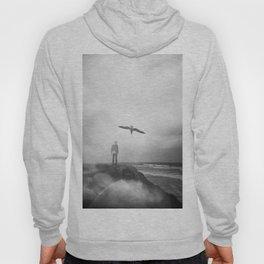 """Ghost Bird"" - California Coast Holga double exposure Hoody"