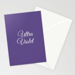 Ultra violet 2018 color Stationery Cards