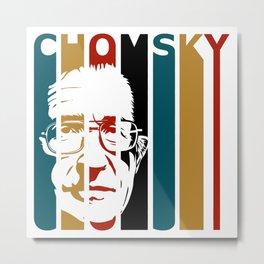 Noam Chomsky Retro Homage Metal Print