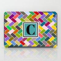 monogram iPad Cases featuring C Monogram by mailboxdisco