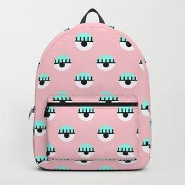 Evil Eyes on Pink Backpack