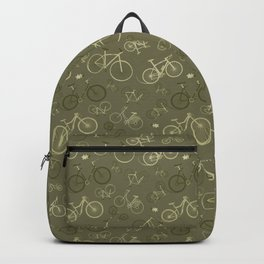 I love bikes in army green Backpack