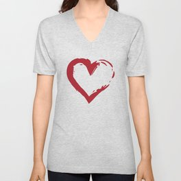 Heart Shape Symbol Unisex V-Neck