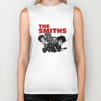 smiths Biker Tanks featuring The Smiths (white version) by BinaryGod.com