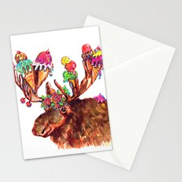 Chocolate Moose Stationery Cards