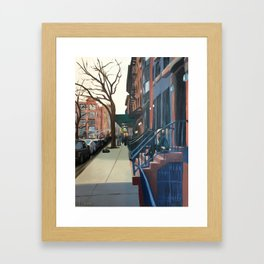 Woman on the Stoop, West 21st Street Framed Art Print