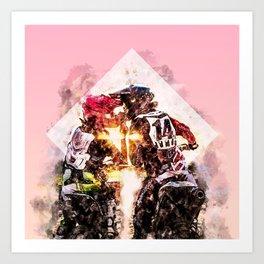 Bikers in love Art Print