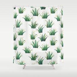 Field of Aloe Shower Curtain