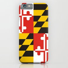 maryland state state flag united states of america country iPhone 6 Slim Case