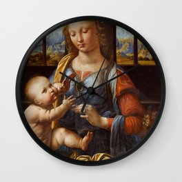"Leonardo da Vinci ""Madonna of the Carnation"" Wall Clock"
