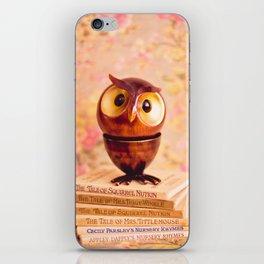 Bookish owl iPhone Skin