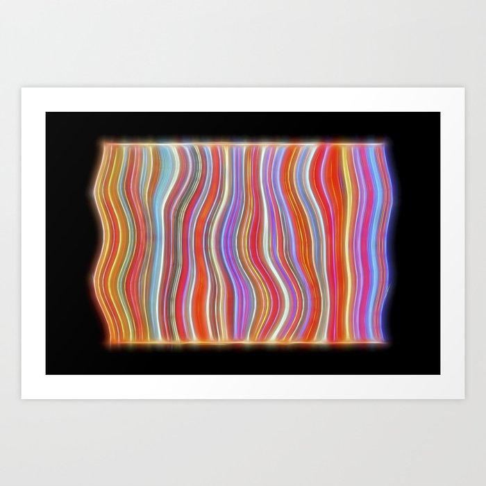 Wild Wavy Lines 01 Art Print