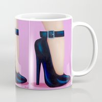 battlefield Mugs featuring Pink Lady by Little Bunny Sunshine