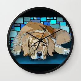 Honey, the Golden Retiever Wall Clock