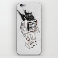 army iPhone & iPod Skins featuring robot army by Tom Kitchen