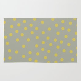 Simply Dots Mod Yellow on Retro Gray Rug