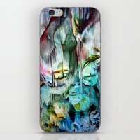 waterfall iPhone & iPod Skins featuring WaterFall by ART de Luna