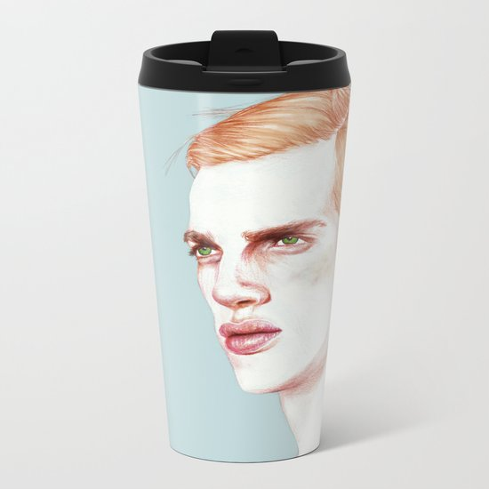 Boy Bruised Metal Travel Mug