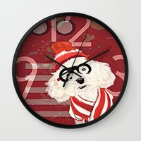 waldo Wall Clocks featuring Wheres Waldo by grapeloverarts