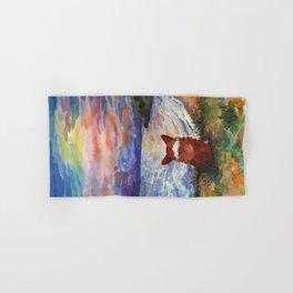Corgi - sunset adorer Hand & Bath Towel