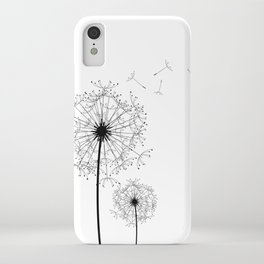 Black And White Dandelion Sketch iPhone Case