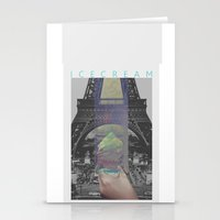 icecream Stationery Cards featuring Icecream by john muyargas