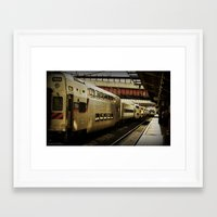marc allante Framed Art Prints featuring Marc Train by Reggie Thomas Photos