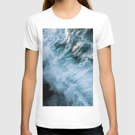 Wave in Ireland during sunset - Oceanscape T-shirt