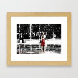 Girl in Fountain, Boston Framed Art Print