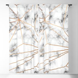 Marble & Gold 046 Blackout Curtain