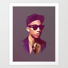 Hip hop poly Art Print