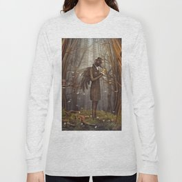 Raven in forest Long Sleeve T-shirt