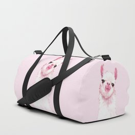 Llama Pink Duffle Bag