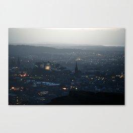 Edinburgh, by Night Canvas Print