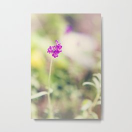 PURPLE POP FLOWER II Metal Print