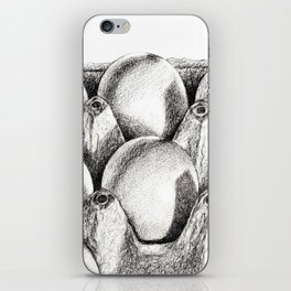Egg in Carton iPhone Skin