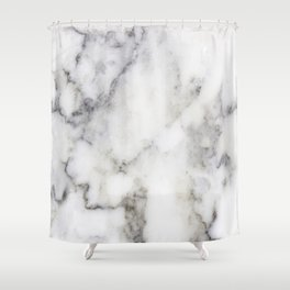Gray Marble Print Shower Curtain
