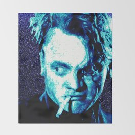 James Cagney, blue Madness. Throw Blanket