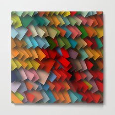 colorful rectangles with shadows Metal Print