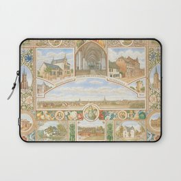Vintage greeting from Opladen Laptop Sleeve